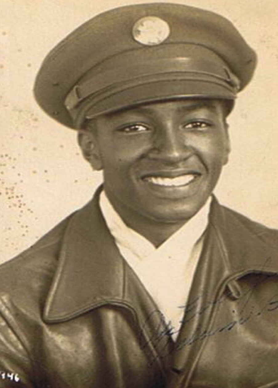 Brent's father, Adam Burton Jr. was drafted to the U.S. Army Air Corps in 1945 during the end of World War II. He completed his basic training in Texas and served in a segregated division while he was in the service. This is a photo of him in 1946.